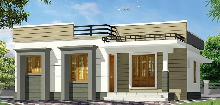 875 Sq Ft 2BHK Contemporary Style Home and Free Plan, 13 Lacks