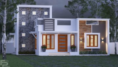 Photo of 989 Sq Ft 2BHK Fusion Style Single Floor Home and Free Plan