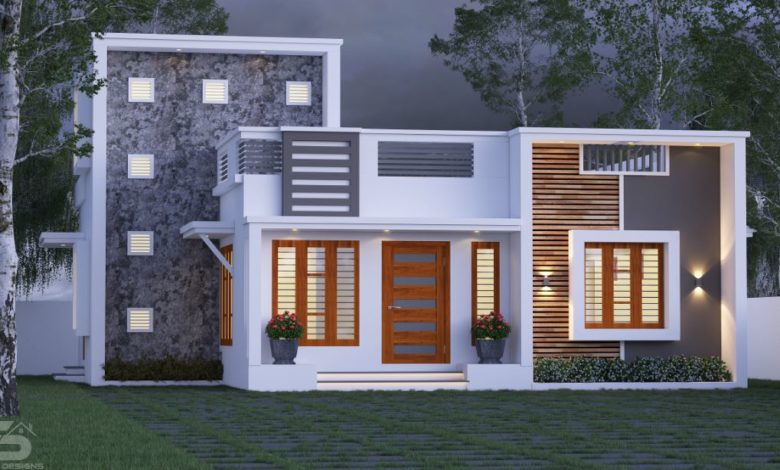 989 Sq Ft 2BHK Fusion Style Single Floor Home and Free Plan