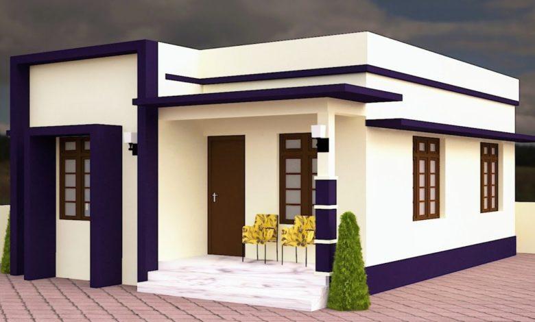 572 Sq Ft 2BHK Modern Single Floor House and Free Plan, 10 Lacks