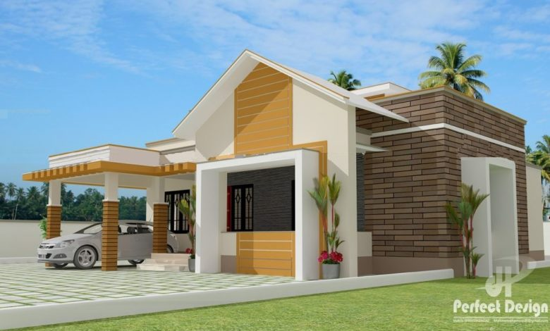 1119 Sq Ft 3BHK Contemporary Style Single Floor Home and Free Plan