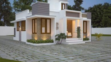 Photo of 1200 Sq Ft 3BHK Fusion Style Single Floor Home and Free Plan
