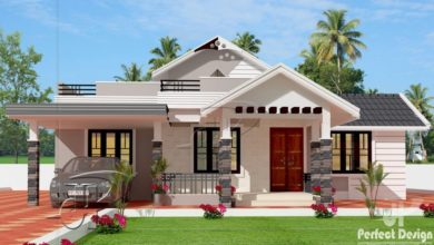 Photo of 1220 Sq Ft 3BHK Traditional Style Single-Storey Home and Free Plan