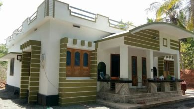 Photo of 1300 Sq Ft 3BHK Contemporary Style Single Floor Home and Free Plan