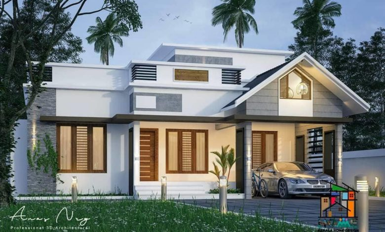 1300 Sq Ft 3BHK Modern Single Floor Home and Free Plan