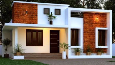 Photo of 1356 Sq Ft 2BHK Contemporary Style Single-Storey Home and Free Plan