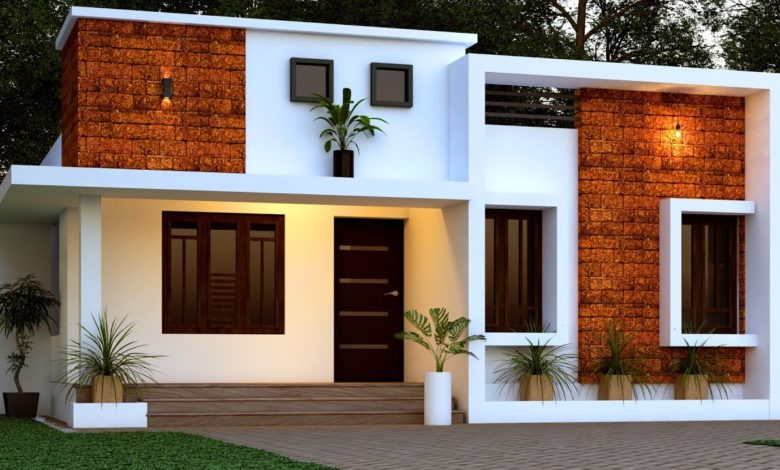1356 Sq Ft 2BHK Contemporary Style Single-Storey Home and Free Plan