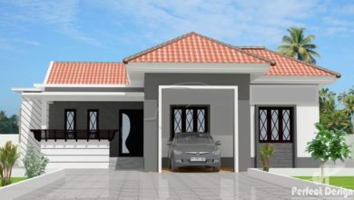 Photo of 1420 Sq Ft 3BHK Traditional Style Single Floor Home and Free Plan