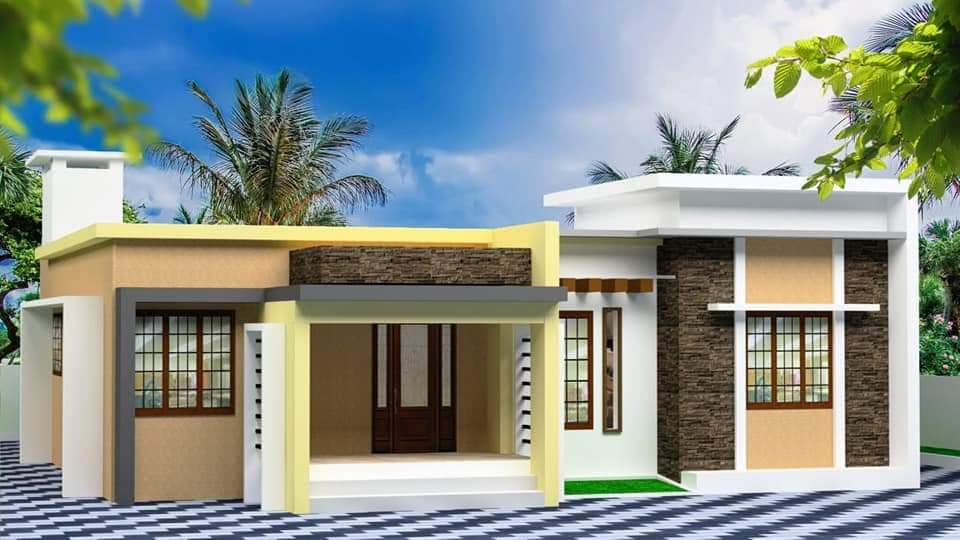 1517 Sq Ft 4BHK Box Type Single Floor Home and Free Plan