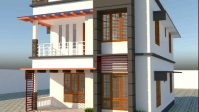 Photo of 1610 Sq Ft 4BHK Contemporary Style Double Floor Home and Free Plan