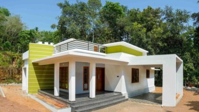 Photo of 1650 Sq Ft 3BHK Box Shape Single-Storey Home and Free Plan