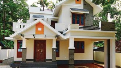 Photo of 1650 Sq Ft 4BHK Colonial-Contemporary Style Two-Storey Home and Free Plan