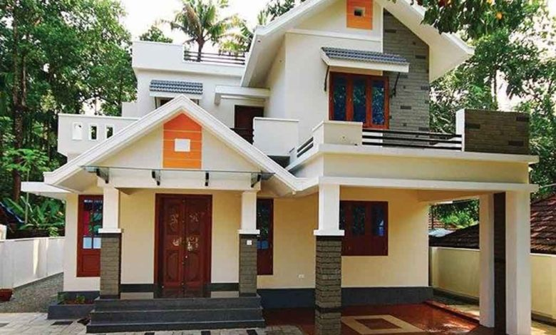 1650 Sq Ft 4BHK Colonial-Contemporary Style Two-Storey Home and Free Plan