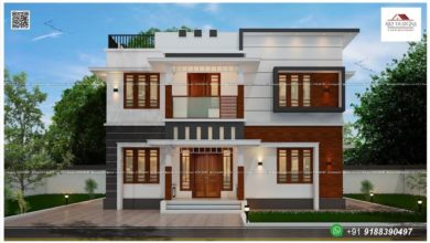 Photo of 1784 Sq Ft 4BHK Contemporary Style Two-Storey Home and Free Plan