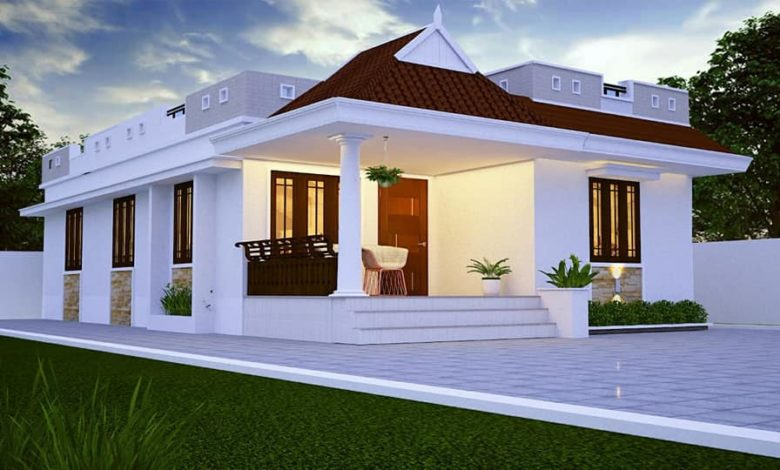 733 Sq Ft 2BHK Traditional Style Low Budget Home and Free Plan (2)