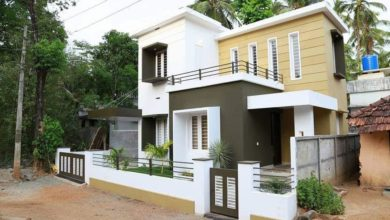 Photo of 889 Sq Ft 2BHK Contemporary Style Two-Storey Home and Free Plan