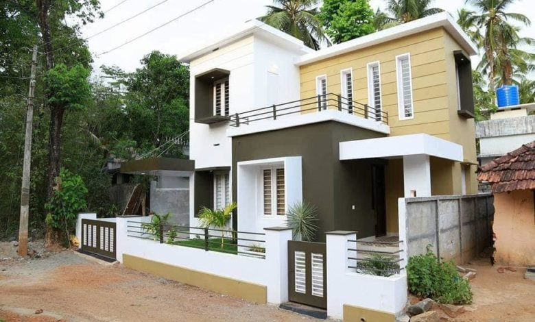 889 Sq Ft 2BHK Contemporary Style Two-Storey Home and Free Plan