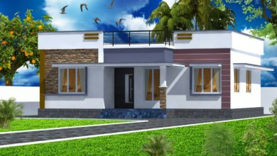 Photo of 954 Sq Ft 2BHK Modern Single-Storey Home and Free Plan