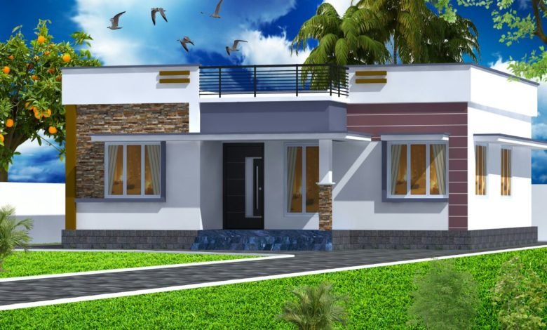 954 Sq Ft 2BHK Modern Single-Storey Home and Free Plan