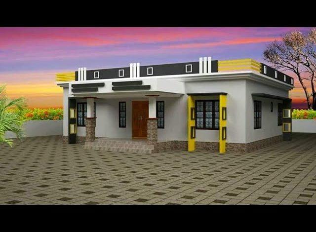 1000 Sq Ft 3BHK Modern Single Floor House and Free Plan, 15 Lacks