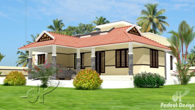 Photo of 1086 Sq Ft 2BHK Traditional Style Single Floor House and Free Plan