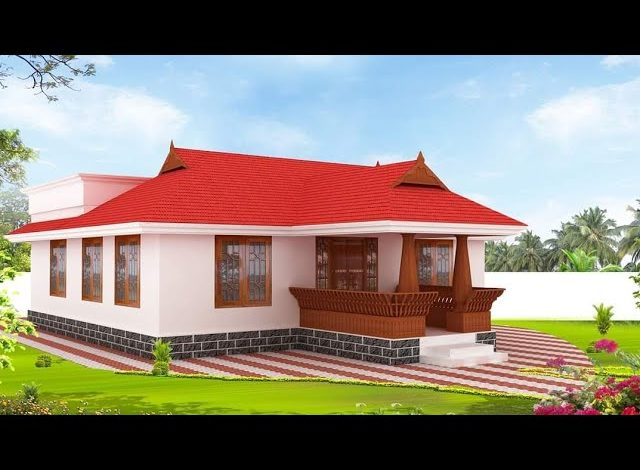 1100 Sq Ft 3BHK Traditional Kerala Style House and Free Plan, 16 Lacks