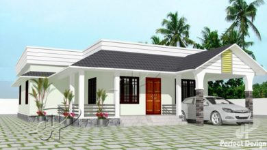 Photo of 1152 Sq Ft 3BHK Traditional-Modern Single Floor House and Free Plan