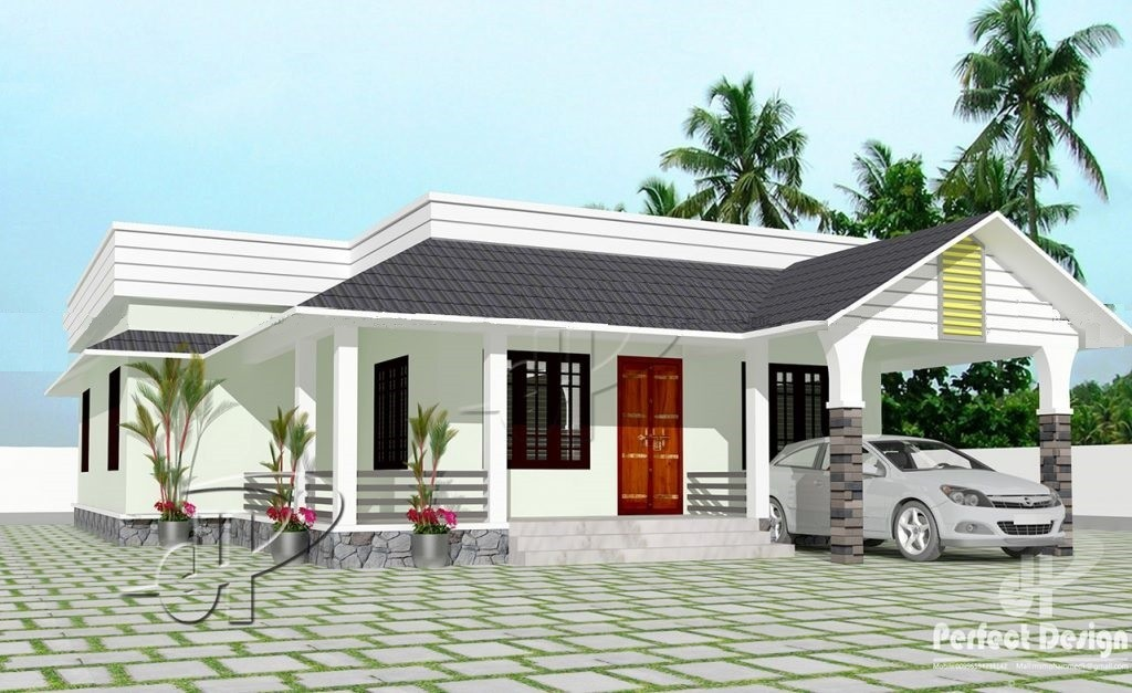 1152 Sq Ft 3BHK Traditional-Modern Single Floor House