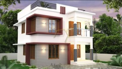 Photo of 1180 Sq Ft 3BHK Modern Flat Roof Two-Storey Home and Free Plan, 17.5 Lacks