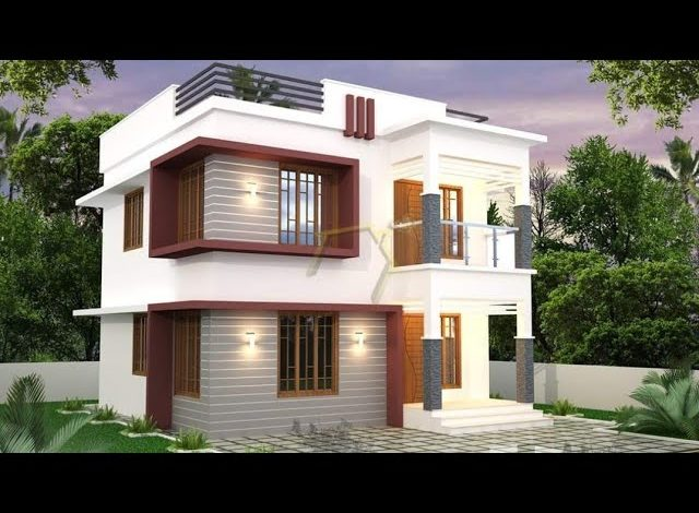 1180 Sq Ft 3BHK Modern Flat Roof Two-Storey Home and Free Plan, 17.5 Lacks