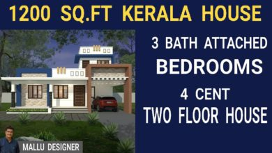 Photo of 1200 Sq Ft 3BHK Contemporary Style Single Floor Home and Free Plan