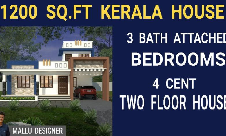 1200 Sq Ft 3BHK Contemporary Style Single Floor Home and Free Plan