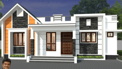 Photo of 1300 Sq Ft 3BHK Contemporary Style Single-Storey Home and Free Plan