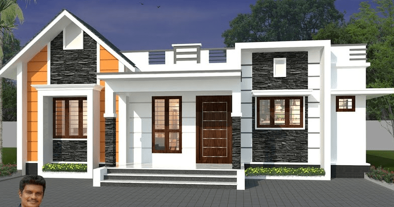 1300 Sq Ft 3BHK Contemporary Style Single-Storey Home and Free Plan