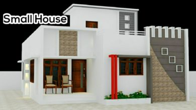 Photo of 1300 Sq Ft 4BHK Contemporary Style Two-Storey Home and Free Plan