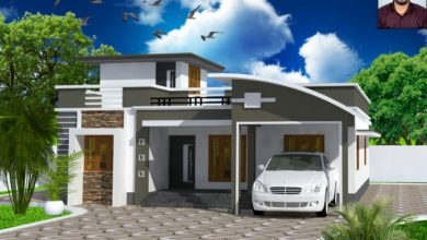 Photo of 1317 Sq Ft 3BHK Contemporary Style Single-Storey Home and Free Plan