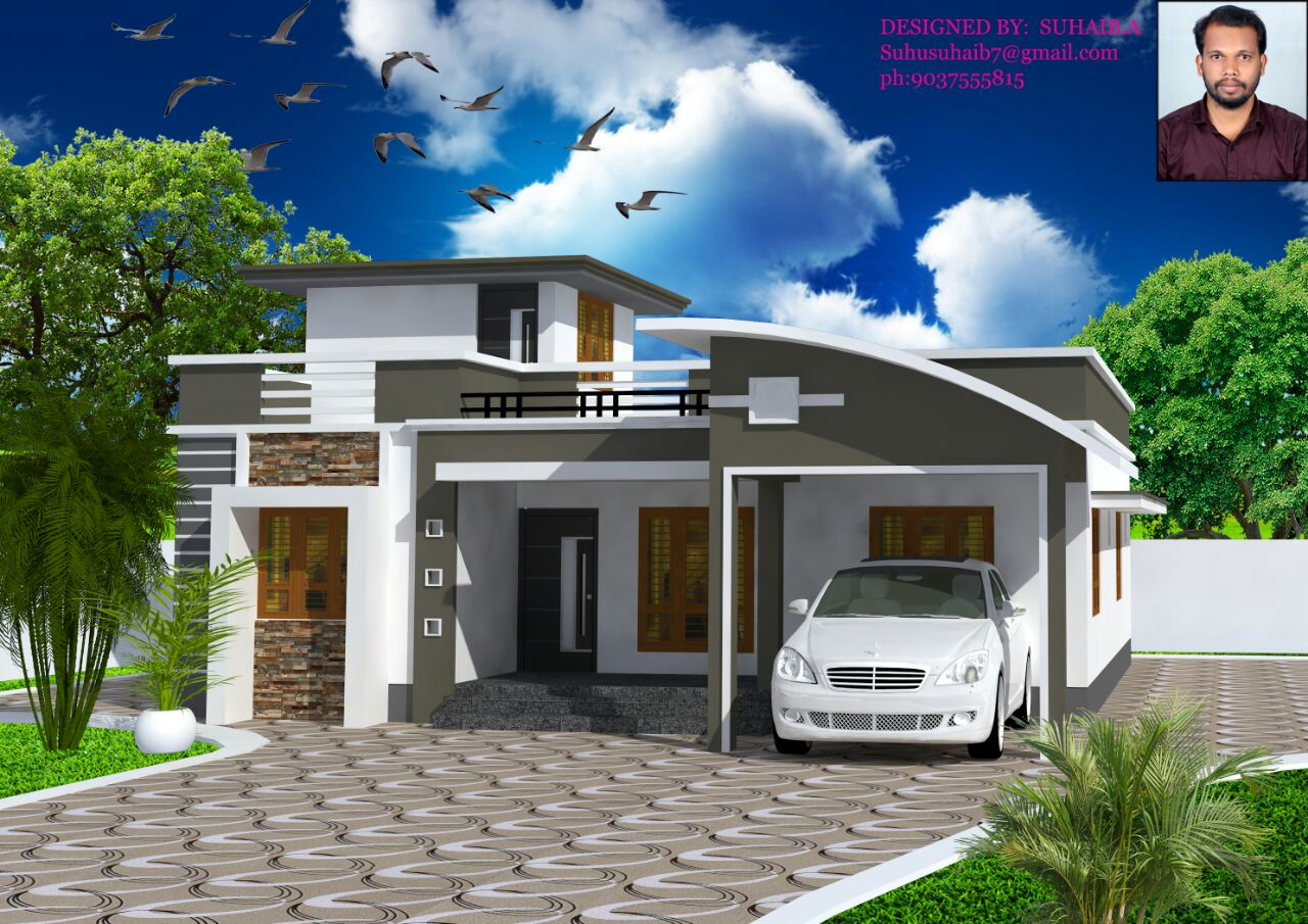 1317 Sq Ft 3BHK Contemporary Style Single-Storey Home and Free Plan