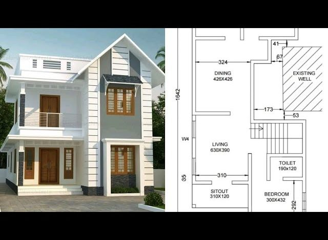 1365 Sq Ft 3BHK Beautiful Two-Storey Home and Free Plan, 20 Lacks