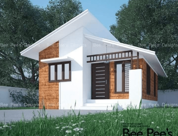 440 Sq Ft 2BHK Modern Single Floor Low Budget Home and Free Plan
