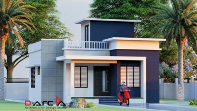 Photo of 665 Sq Ft 2BHK Modern Simple Style Home and Free Plan, 10 Lacks