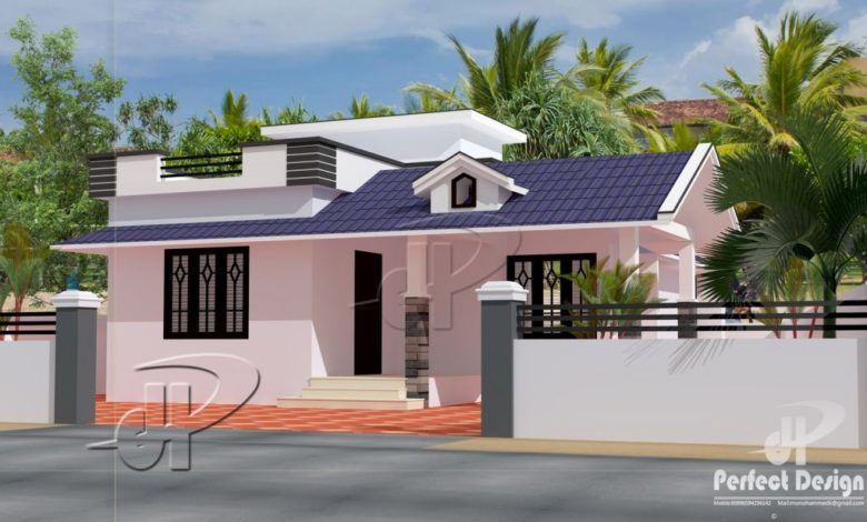 862 Sq Ft 2BHK Traditional Style Single Floor House and Free Plan