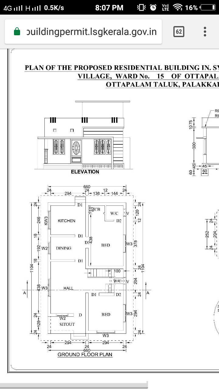 900 Sq Ft 2BHK Modern Single Floor House and Free Plan, 12 Lacks