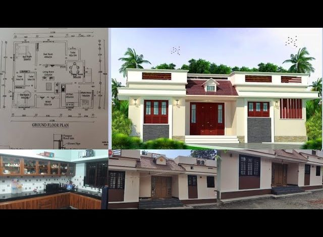 1000 Sq Ft 3BHK Traditional Style Single-Storey House and Free Plan, 16 Lacks