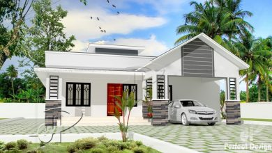 Photo of 1151 Sq Ft 3BHK Modern Single-Storey Home and Free Plan, 17 Lacks