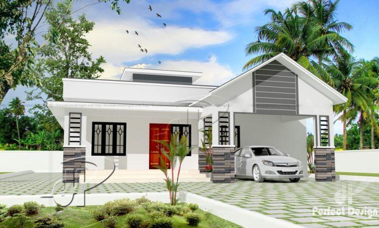 1151 Sq Ft 3BHK Modern Single-Storey Home and Free Plan, 17 Lacks