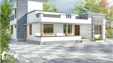 Photo of 1388 Sq Ft 3BHK Modern Single Floor House and Free Plan