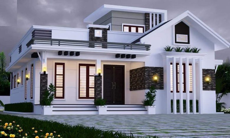 1450 Sq Ft 2BHK Modern Single Floor Home and Free Plan