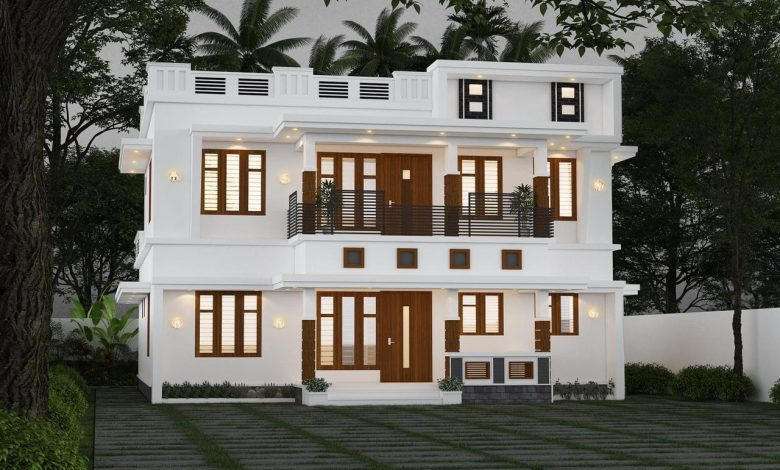 2012 Sq Ft 4BHK Modern Two Storey Home and Free Plan