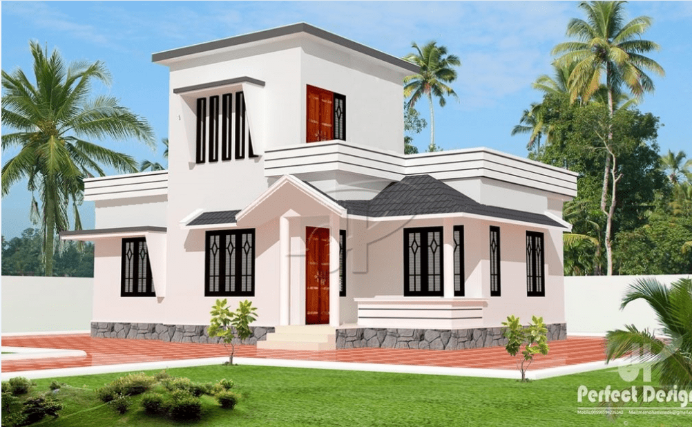 775 Sq Ft 2BHK Traditional Mix Style Home and Free Plan, 10 Lacks