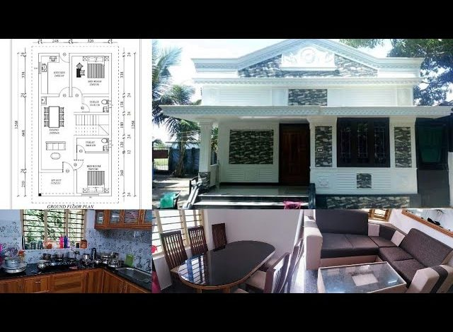 850 Sq Ft 2BHK Modern Single Floor House and Free Plan, 12 Lacks